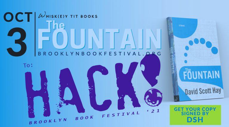 DSH, Brooklyn Book Festival, the fountain